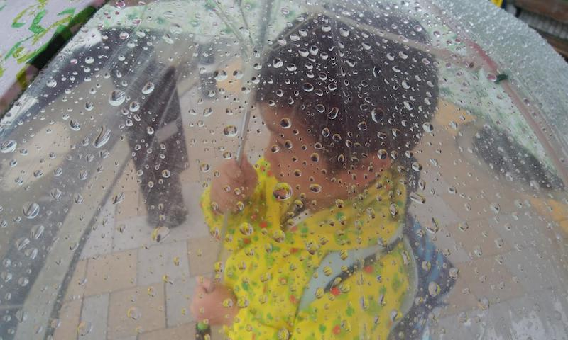 名古屋の雨