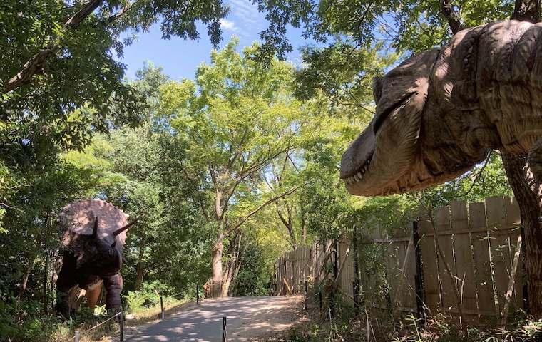 ディノアドベンチャーの恐竜