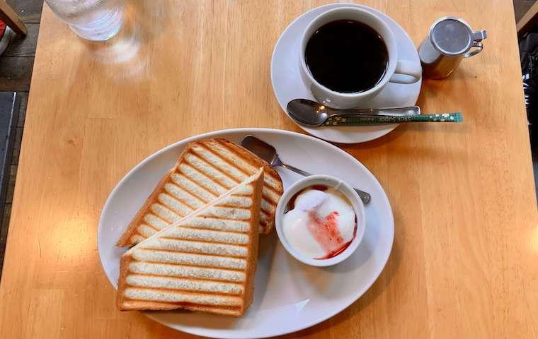 カフェ・ラシュールのモーニングサービス